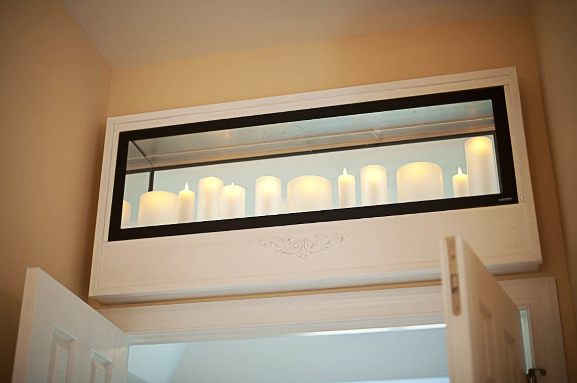 Rock Creek Villas Transom with candles