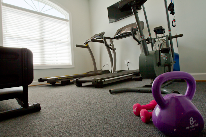 Workout room at Rock Creek Villas Senior Golf Course Community