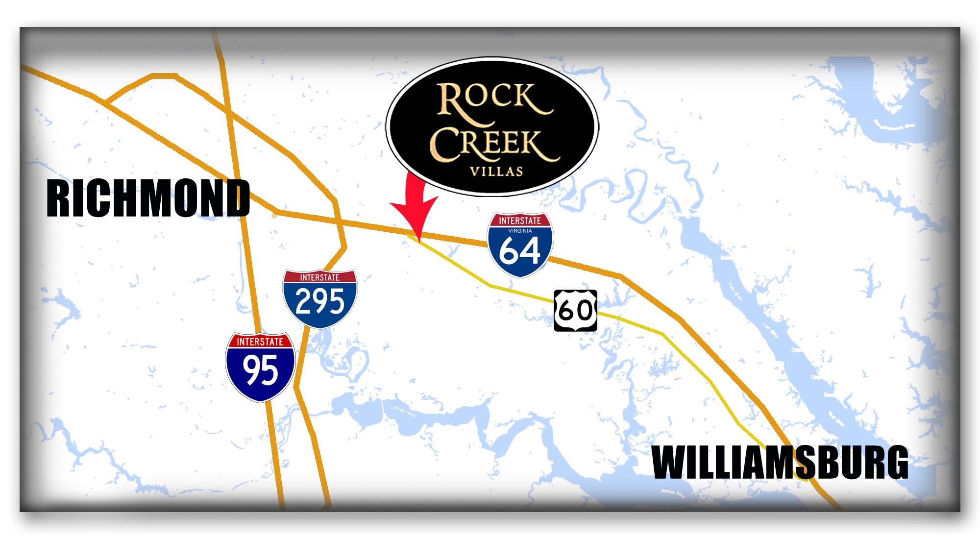 Rock Creek Villas Locator Map